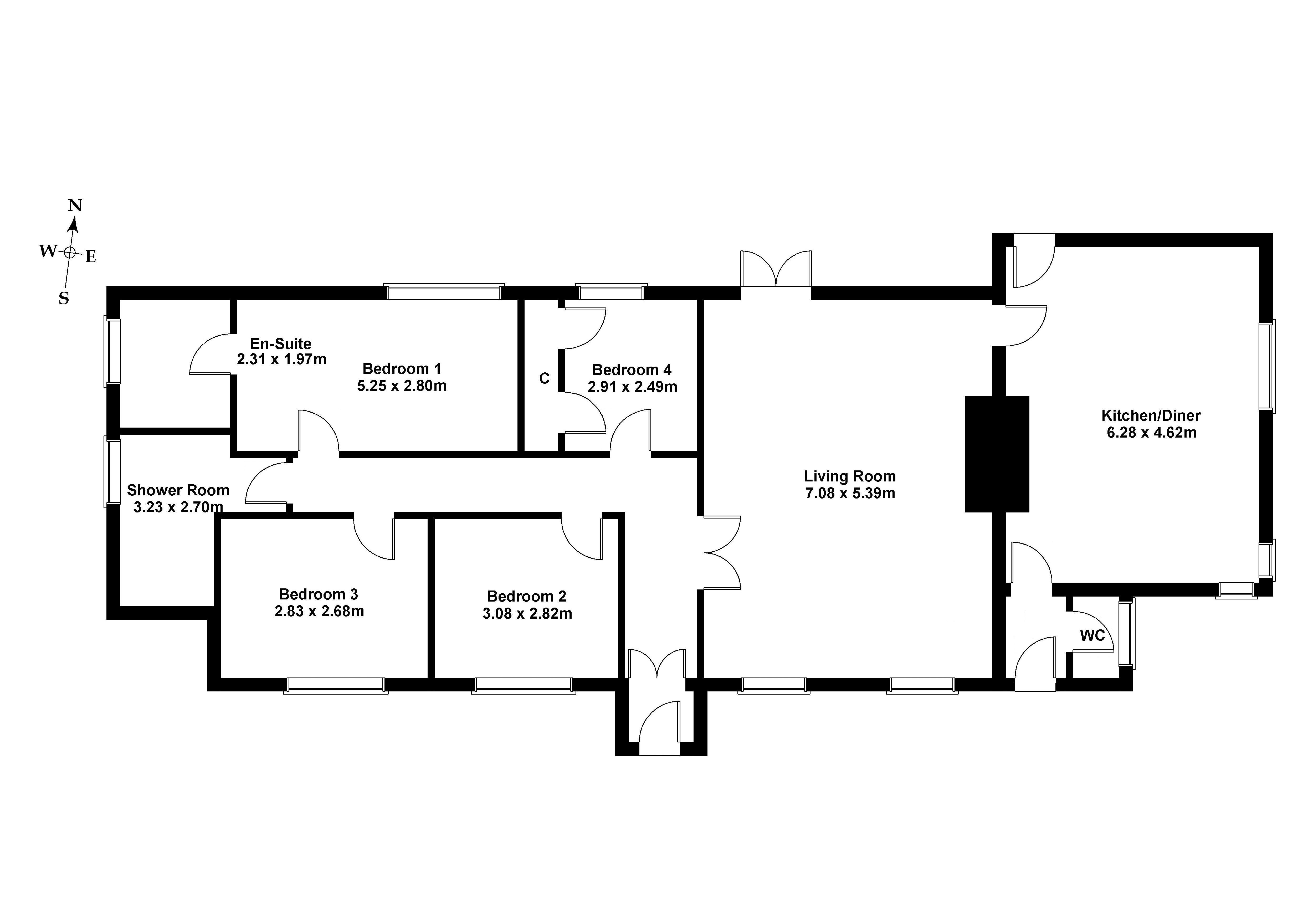 Floorplan 1 of 5 Shillinghill, Humbie, East Lothian, EH36 5PX