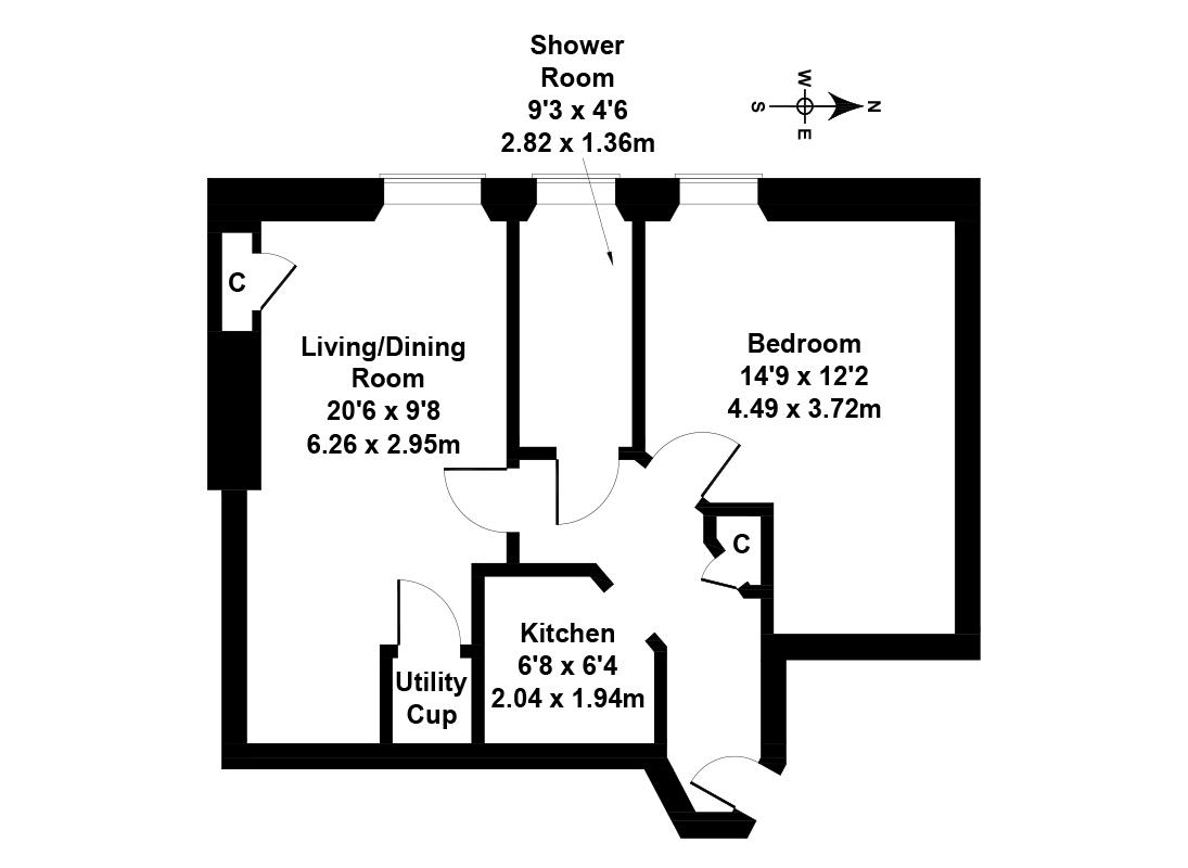 Floorplan 1 of 11/12, Comely Bank Row, Comely Bank, Edinburgh, EH4 1EA