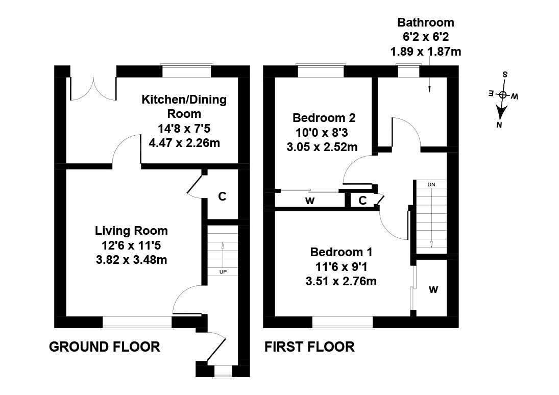 Floorplan 1 of 51 Lochshot Place, Livingston, West Lothian, EH54 6SQ