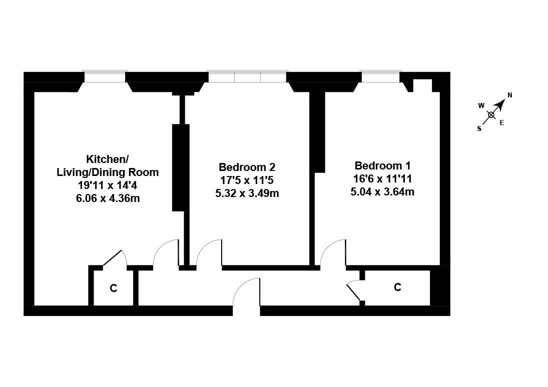 Floorplan 1 of 52/5, Marchmont Crescent, Marchmont, Edinburgh, EH9 1HE