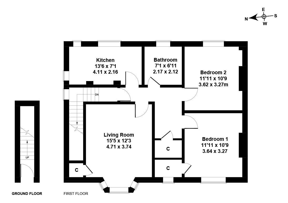 Floorplan 1 of 29 Easter Drylaw Drive, Easter Drylaw, Edinburgh, EH4 2QT