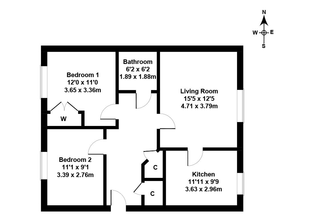 Floorplan 1 of Flat 8, 5 Allanfield Place, Brunswick, Edinburgh, EH7 5AJ