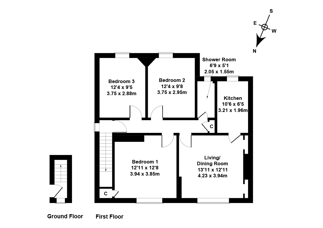 Floorplan 1 of 29 Hutchison View, Chesser, Edinburgh, EH14 1RX