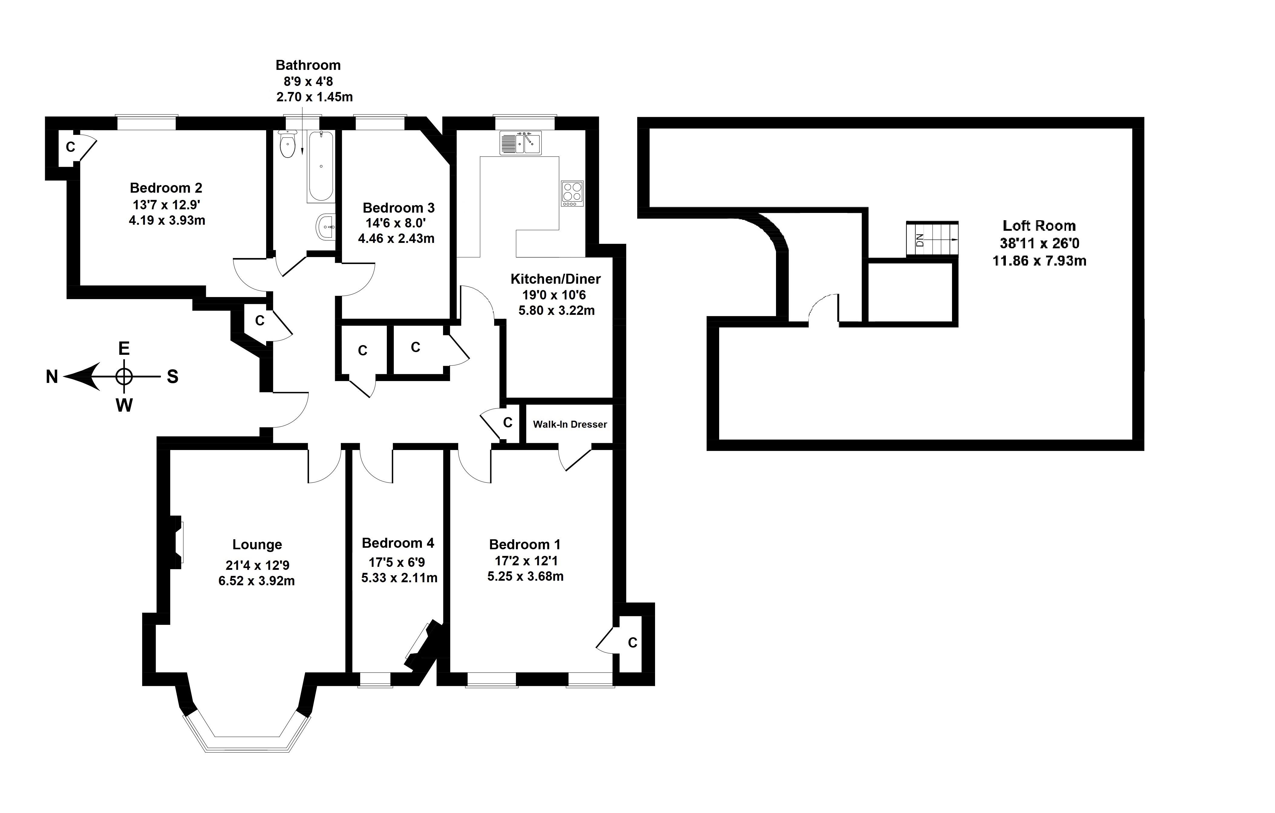 Floorplan 1 of 6/5, Woodburn Terrace, Morningside, Edinburgh, EH10 4SH