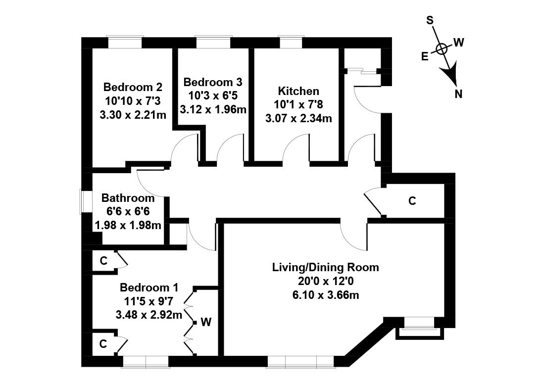 Floorplan 1 of 25/10, Greenpark, Liberton, Edinburgh, EH17 7TA