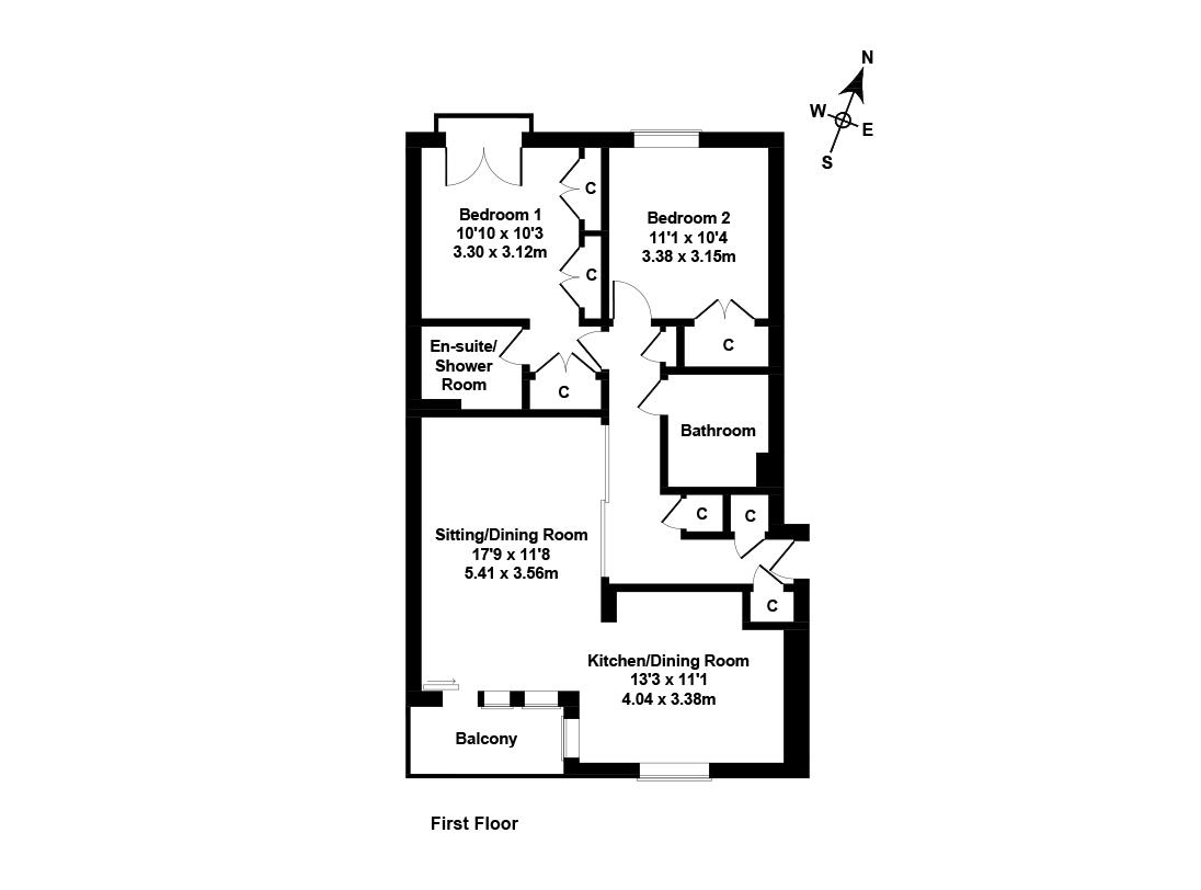 Floorplan 1 of 6/5, East Pilton Farm Avenue, Fettes, Edinburgh, EH5 2GA