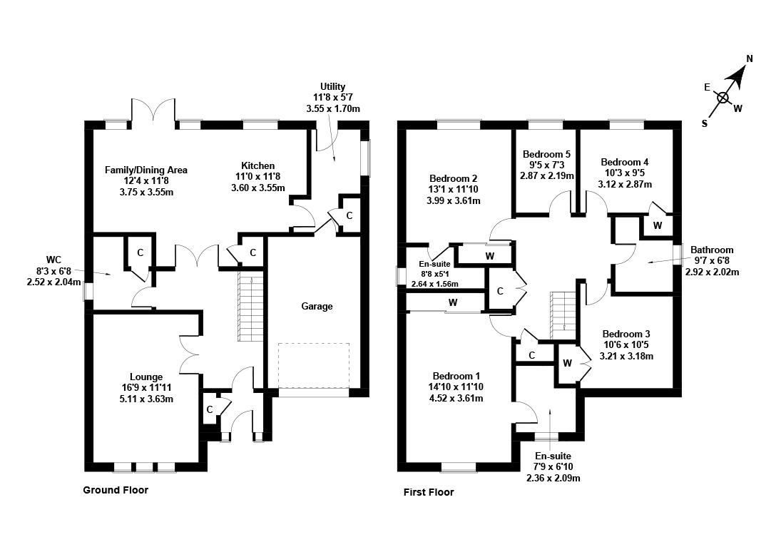 Floorplan 1 of 7 North Platt Crescent, Ratho, Newbridge, City of Edinburgh, EH28 8JT