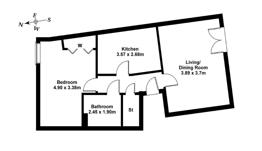 Floorplan 1 of Flat 5, 368 West Granton Road, Granton, Edinburgh, EH5 1FE