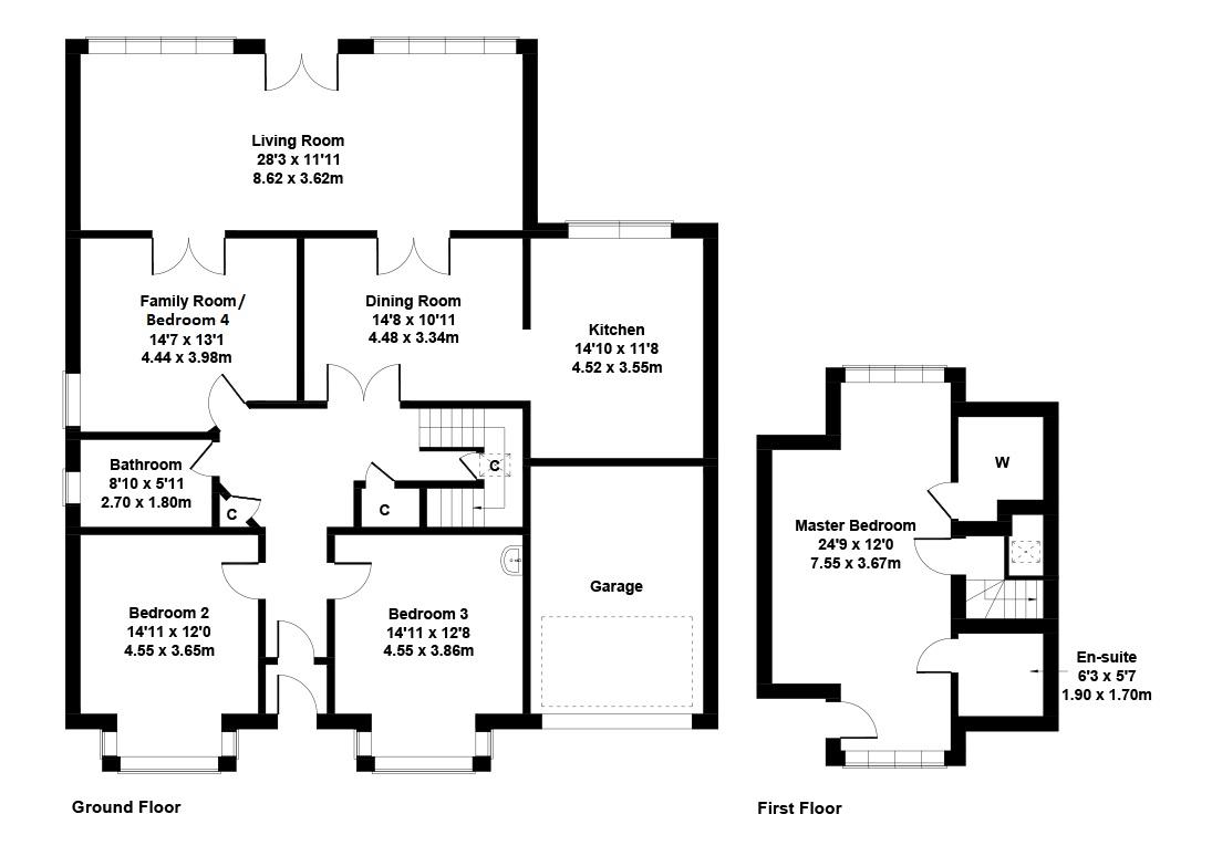 Floorplan 1 of 26 Hillview Road, Corstorphine, Edinburgh, EH12 8QQ