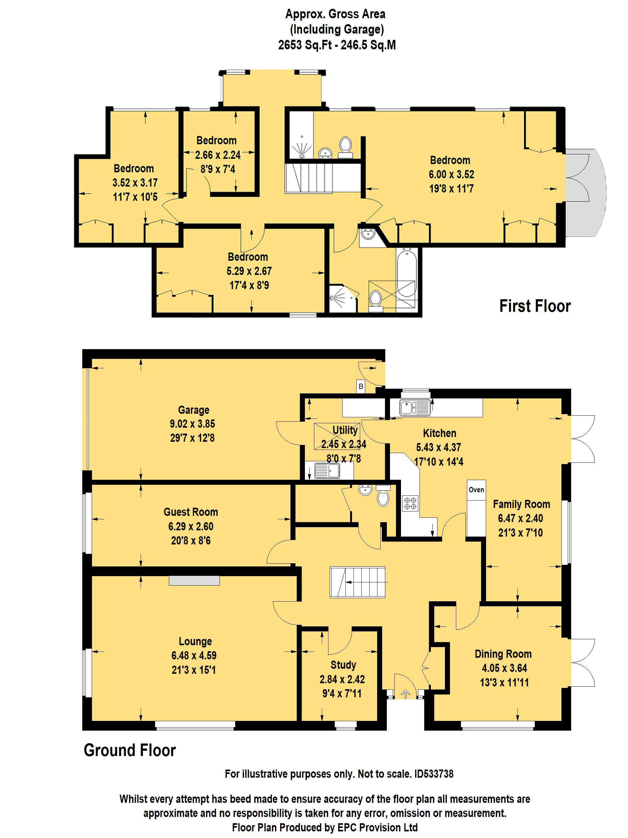 Floorplan for Patch Elm Lane, Rangeworthy.