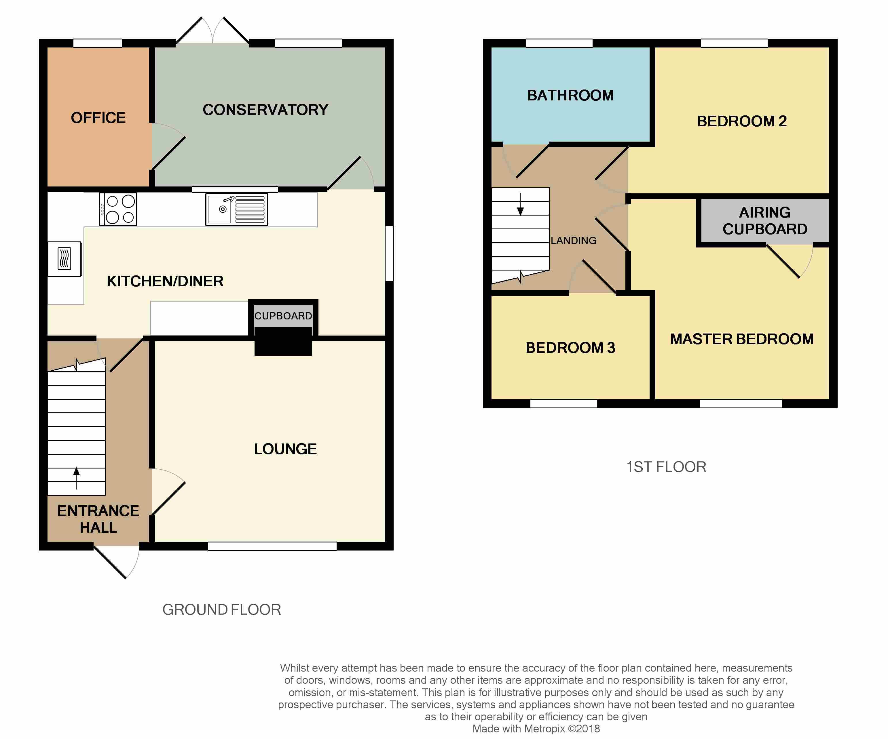 Floorplan for Oldlands Avenue, Coalpit Heath.