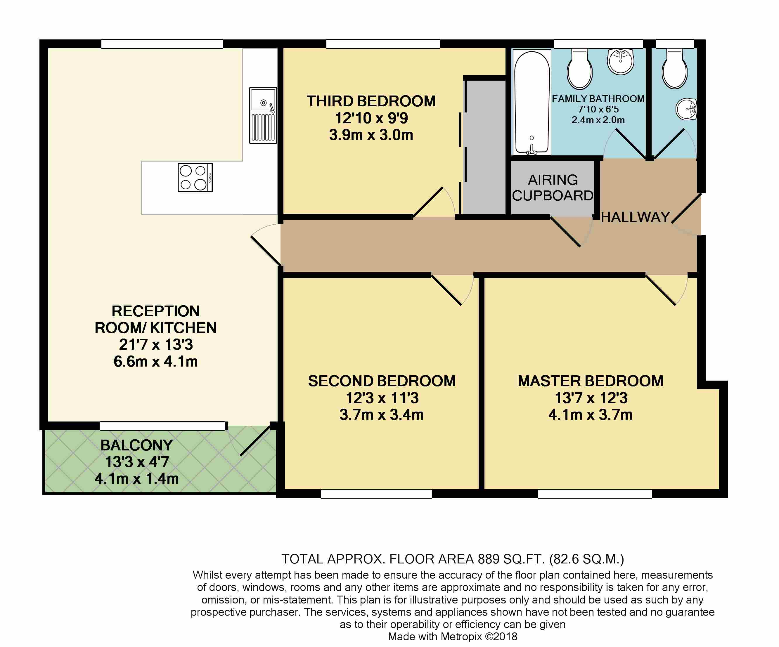 Floorplan: Bournemouth, Dorset, BH1
