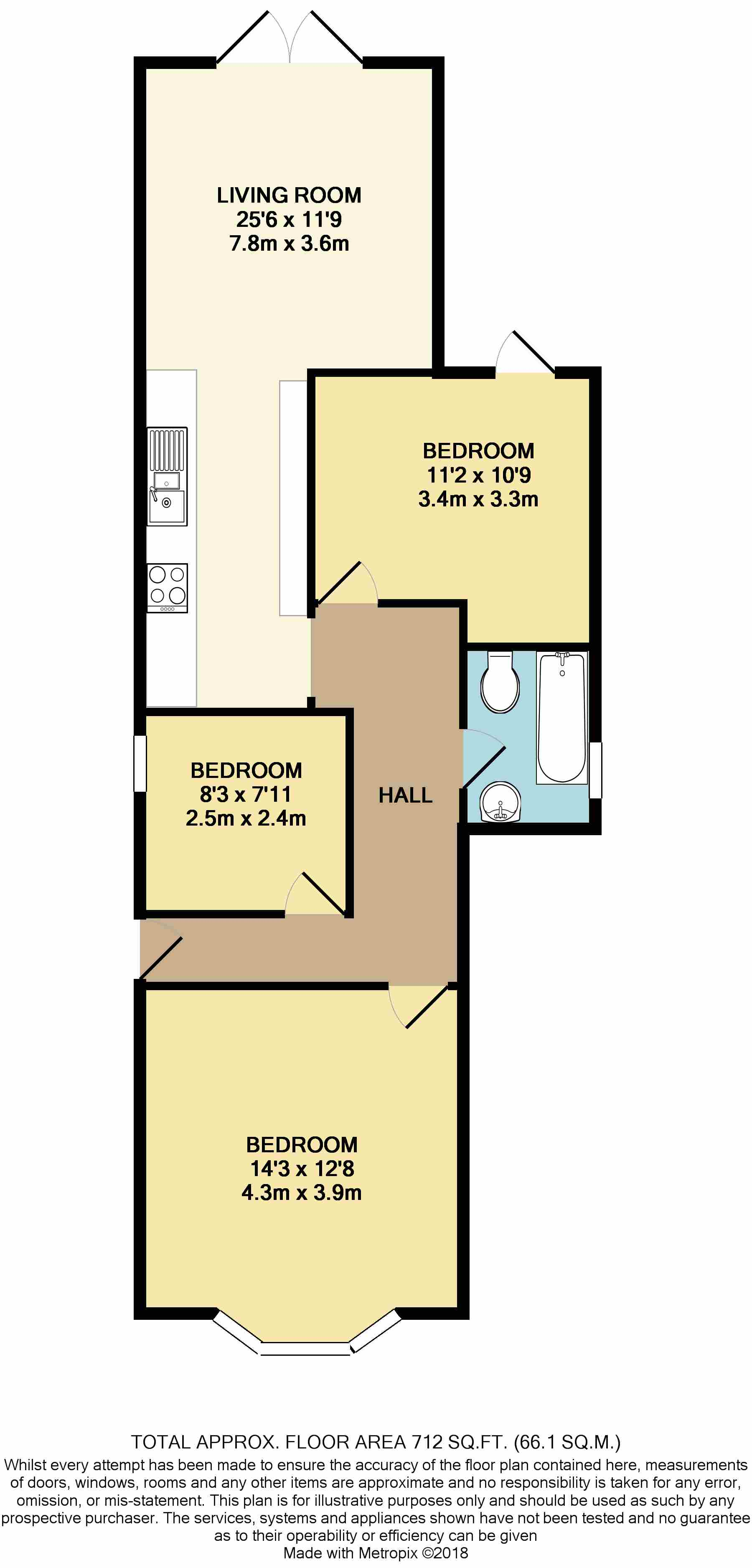 Floorplan: Bournemouth, Dorset, BH6